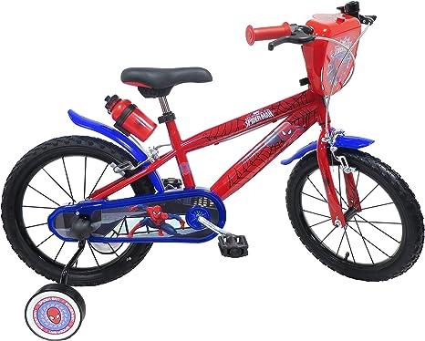 Bicicleta Niño 5/7 años Spiderman 16: Amazon.es: Deportes y aire ...