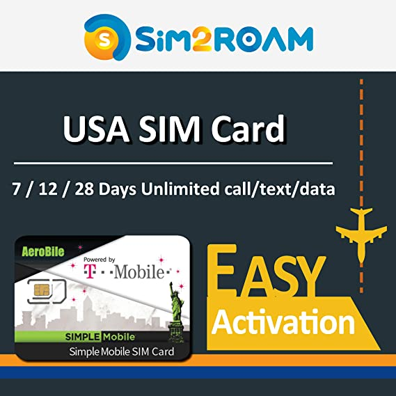 Amazon Com Usa 12 Days Prepaid Sim Card Unlimited 4g Internet