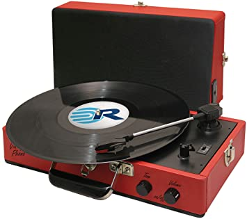 roadstar vintage line portable suitcase turntable with built in rh amazon co uk