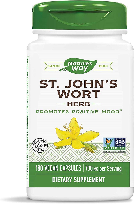Nature's Way Premium Herbal St. John's Wort Herb, 700 mg per serving, 180 Capsules: Health & Personal Care
