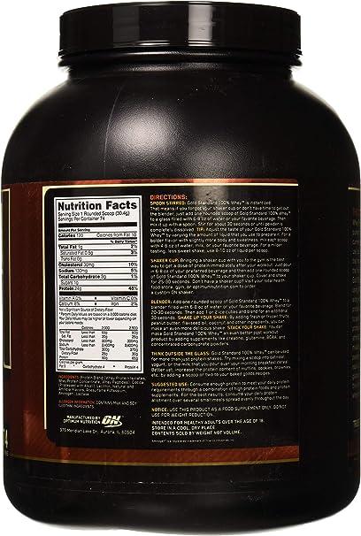 Optimum Nutrition Gold Standard 100% Whey Proteína en Polvo, Doble Chocolate - 2270 g