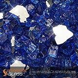 "Starfire Glass 10-Pound ""Fire Glass""  1/2-Inch Cobalt Blue Reflective"