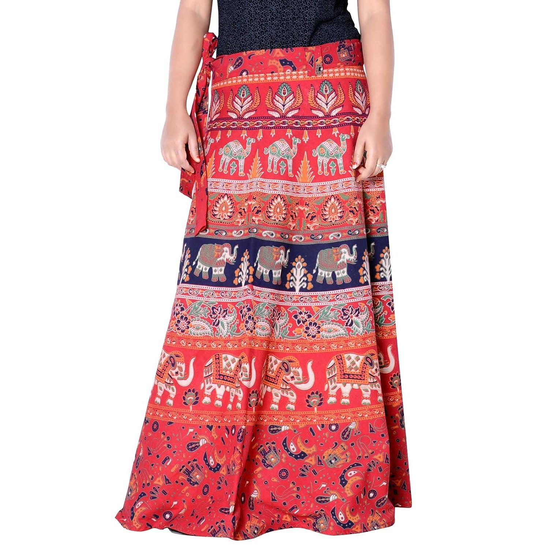 Sttoffa 40 inch Length Wrap Around Rajasthani Skirt D1