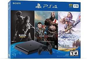 Sony Playstation 4 Console with Bundle (Last of Us, God of War, Horizon Zero Dawn), 1 TB - US Version (R1)