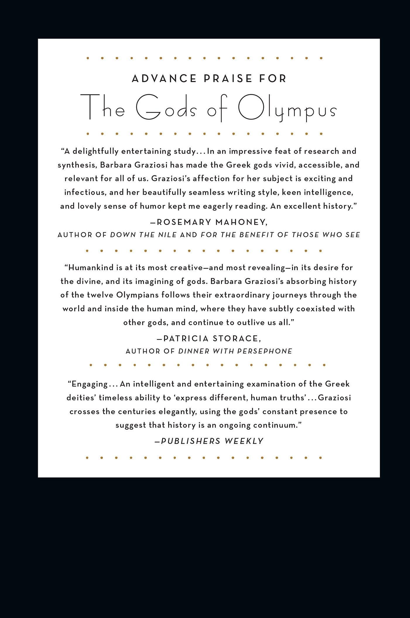 The Gods Of Olympus A History Barbara Graziosi 9780805091571