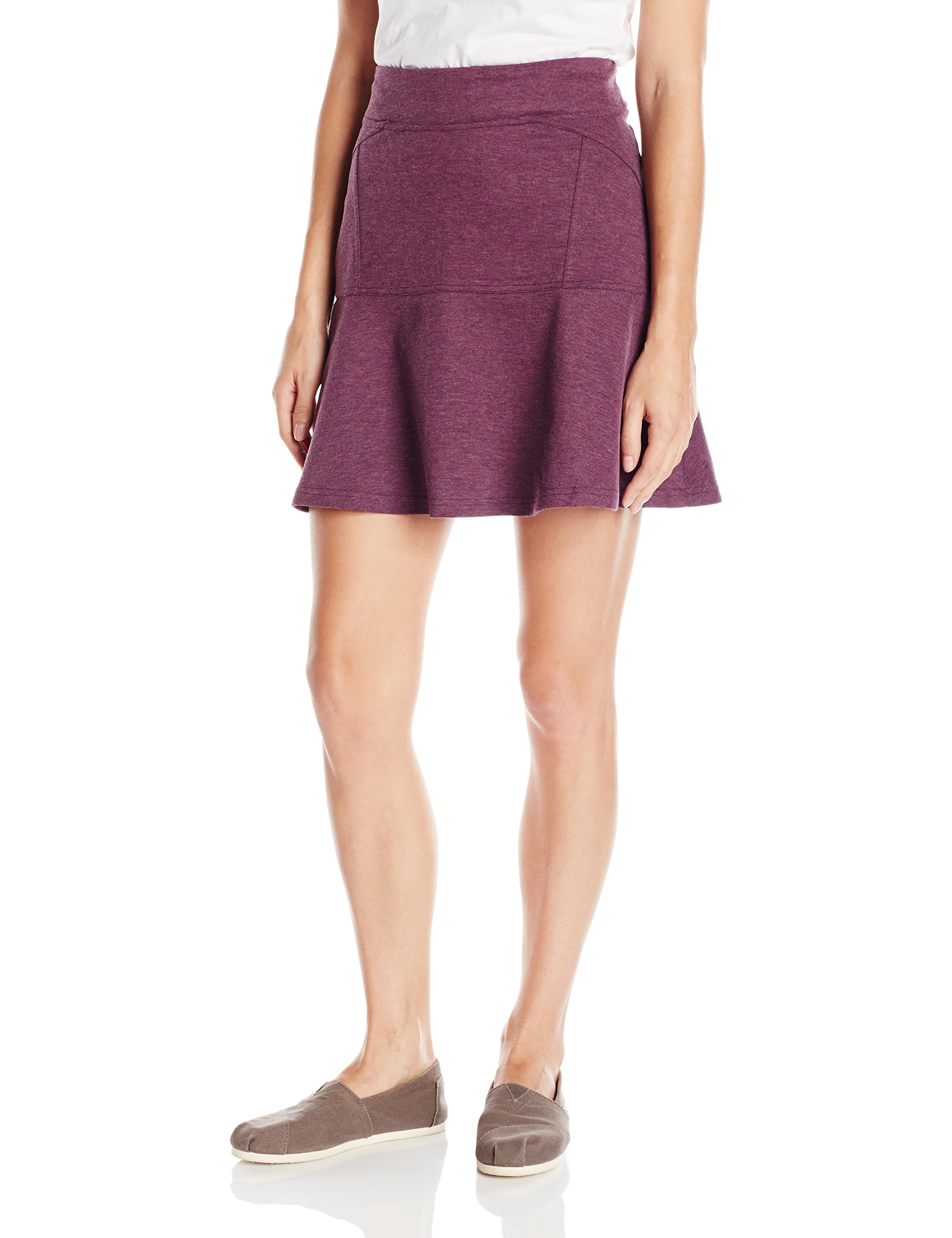 prAna Women's Gianna Skirt, Small, Wine