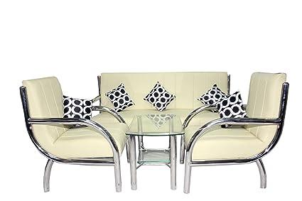 Steel Sofa Set (Lvory)