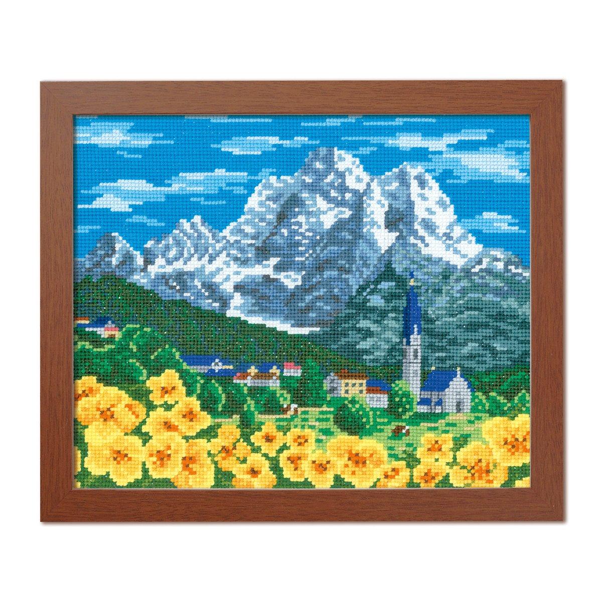 Orimupasu Kreuzstich-Stickerei-Kit Weltauswahl Alpen Berge (Schweiz) 7476