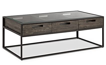 Magnussen T4034 43 T4034 Claremont Transitional Weathered Charcoal  Rectangular Coffee Table