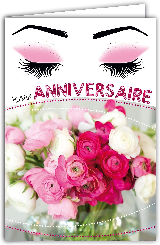 Personnaliser marraine Carte D/'Anniversaire Fée Rose Blanc Greeting paillettes transport