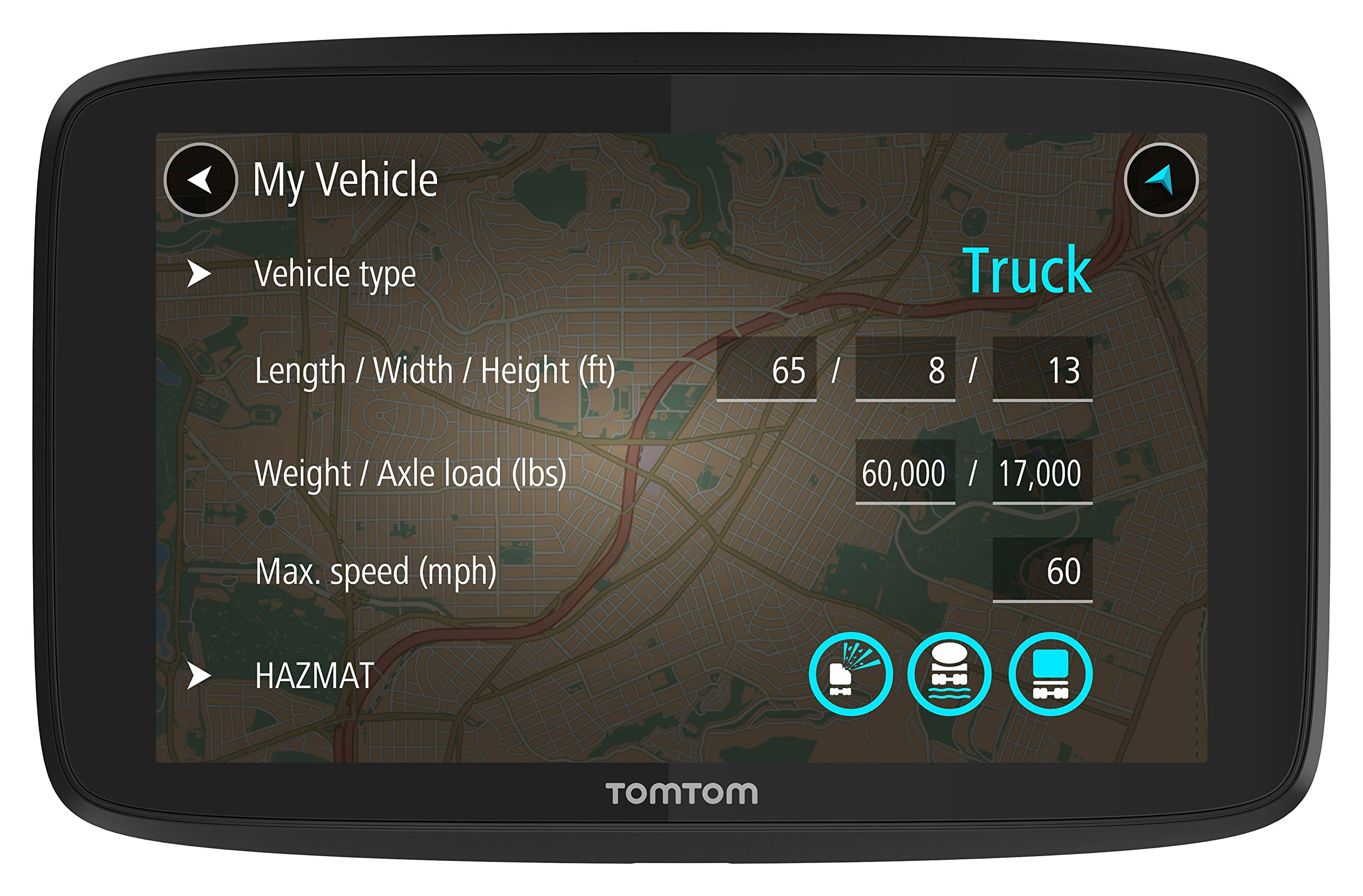 TomTom Trucker 620 6-Inch GPS Navigation Device for Trucks with Wi-Fi Connectivity, Smartphone Services, and Free Lifetime Traffic and Maps of North America by TomTom