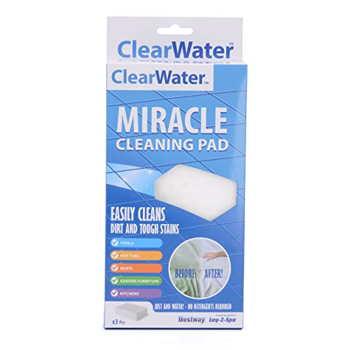 Clearwater CH0025 Miracle Sponge Eraser Pad for Swimming Pool and Spa Treatment (Suitable for Lay-Z-Spa Products)