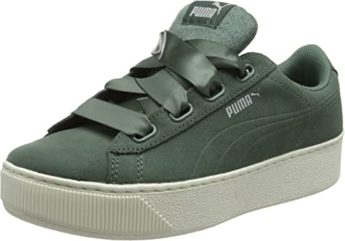 PUMA Damen Vikky Platform Ribbon S Sneaker, Black Black