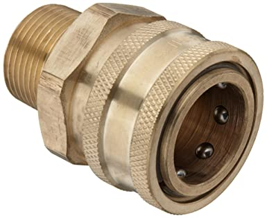 Quick Connect Fittings >> Dixon Stmc6 Brass Hydraulic Quick Connect Fitting 3 4 Male Coupling X 3 4 14 Straight