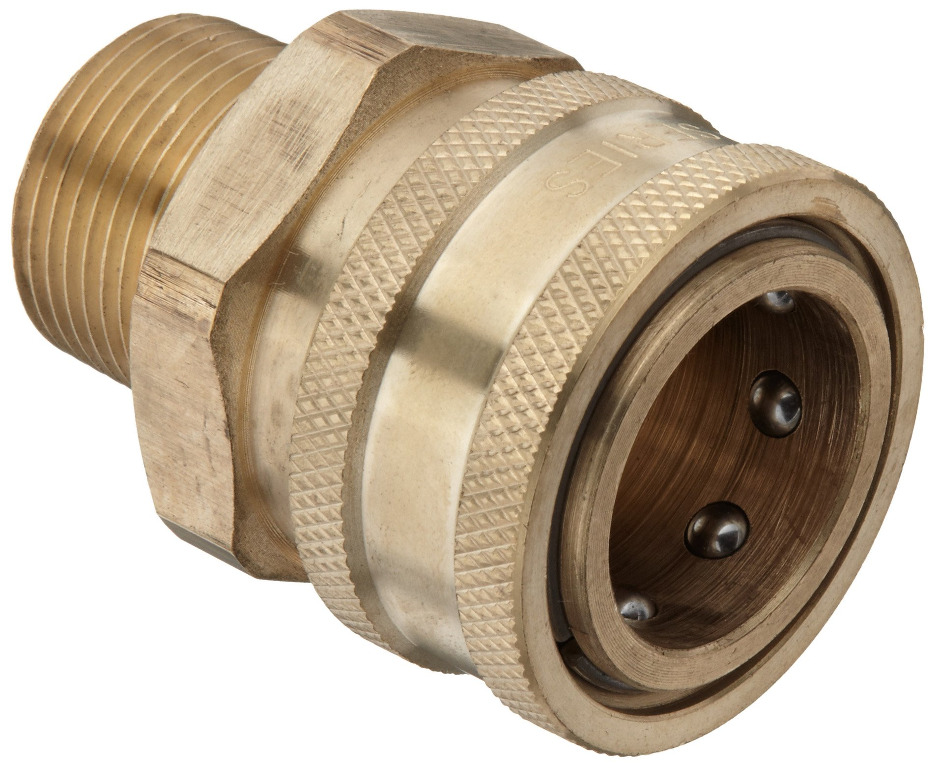 Dixon STMC6 Brass Hydraulic Quick-Connect Fitting, 3/4'' Male Coupling x 3/4''-14 Straight