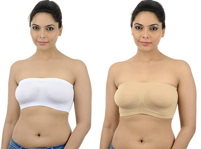 ff97f1bf753 Image Unavailable. Image not available for. Colour  Ishita Fashions Tube  Bra Seamless Strapless Bandeau Top ...