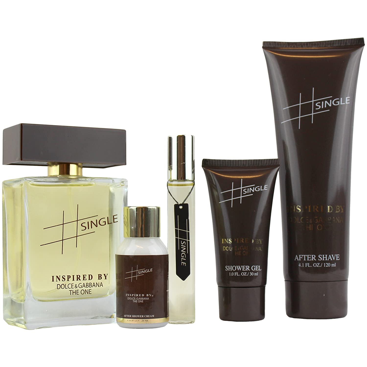 9a603ded87b57e Amazon.com     Single 5Pc Fragrance Gift Set, Includes. Perfume, After  Shave, Shower Gel, After Shower Cream and Roller Perfume Inspired By The One    Beauty