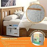 Premium Bedside Caddy Organizer - Heavy Duty