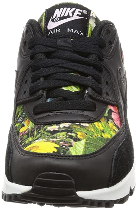 size 40 9df57 72509 Nike Air Max 90 Se Print Womens Trainers, Black   Prism Pink   Summit White,  3.5 UK  Amazon.co.uk  Shoes   Bags