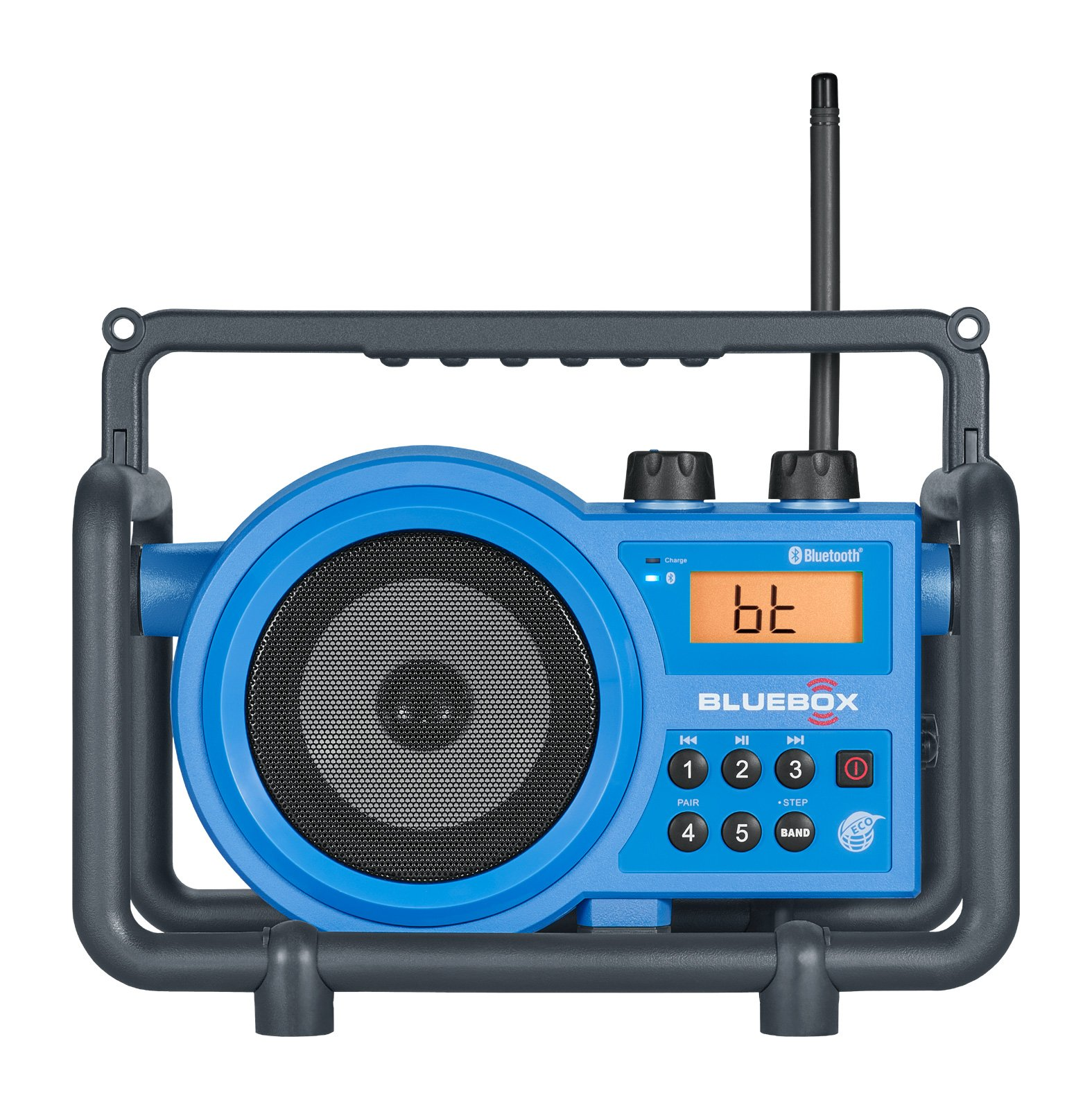 Sangean Portable Bluetooth Water Resistant Ultra Rugged AM/FM Radio Receiver with Large Easy to Read Backlit LCD Display