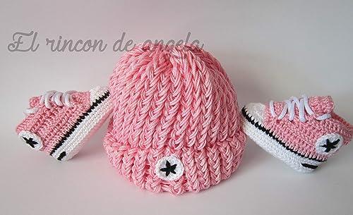 zapatillas converse a crochet