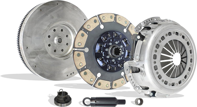 CUMMINS TURBO DIESEL; 5-SPEED; Stage 2 Clutch Kit And Flywheel Works With Dodge Ram 2500 3500 Laramie SLT ST Base Cab Pickup 1998-2004 5.9L l6 DIESEL OHV Turbo