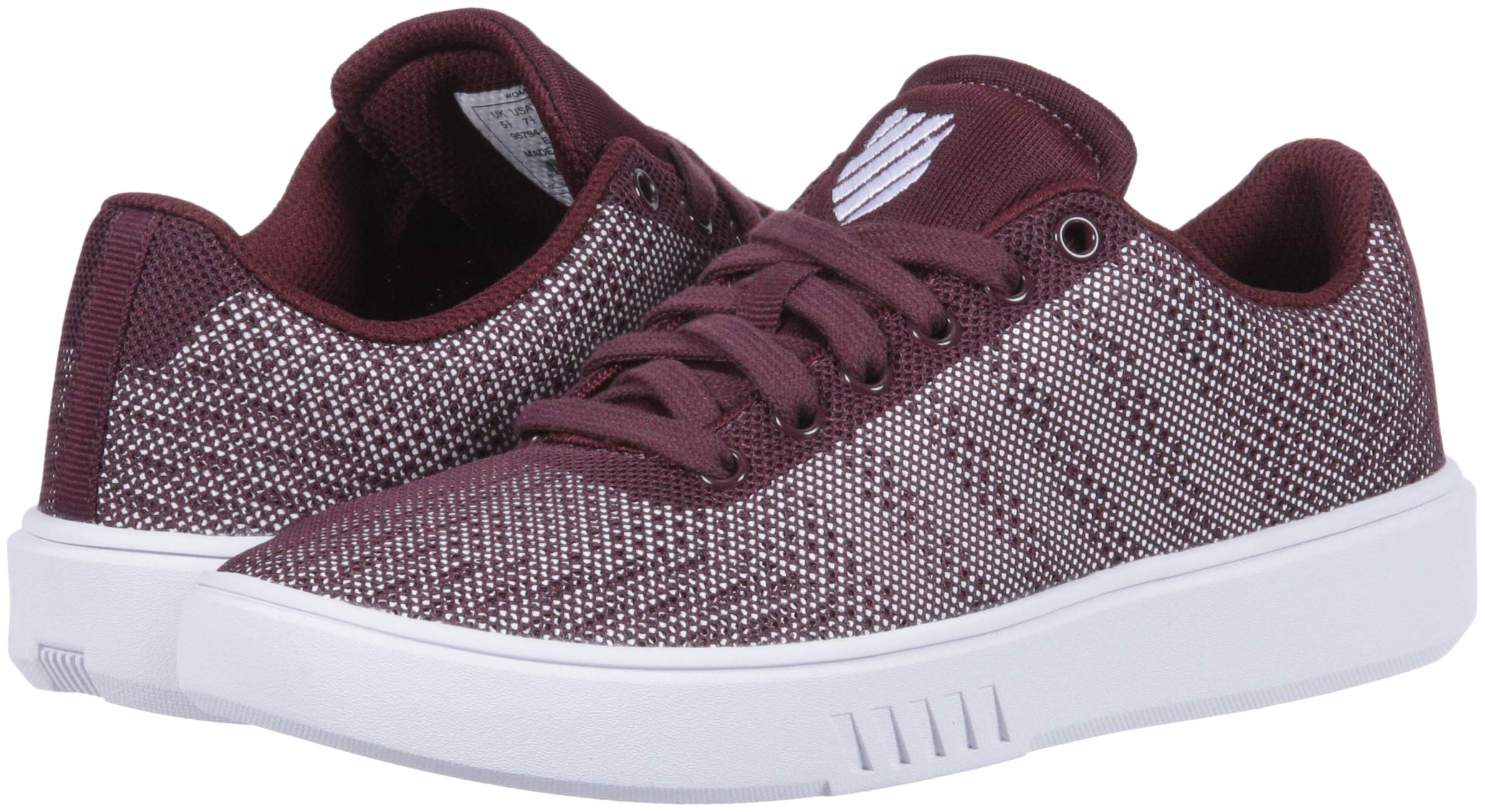 K-Swiss Womens Court Addison Fabric Low Top Lace Up Fashion Sneakers
