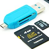 NextgenEnterprise OTG Smart Memory Card Reader || Micro SD || SDHC || Multi-functional USB 2.0 For Android Smart Phones PC Laptops (Colors May Vary)