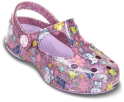 d84a1f955 Crocs Carlie Hello Kitty Glitter Bubblegum/Iris Mules And Clogs Sandal  14048-6R6-126 12 UK Junior: Amazon.co.uk: Shoes & Bags