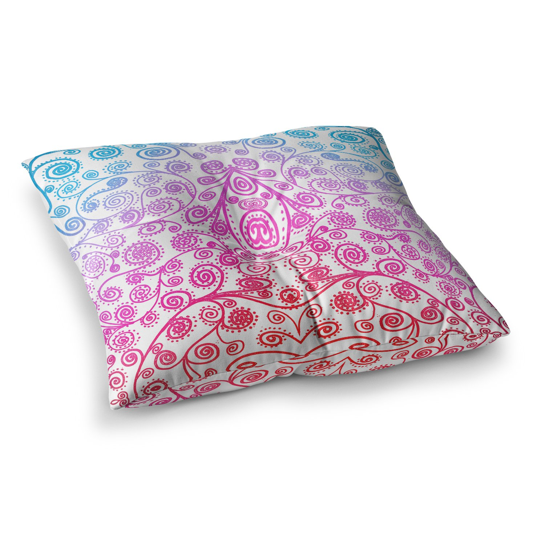 Kess InHouse Monika Strigel Dots and Stripes Pink 23 x 23 Square Floor Pillow