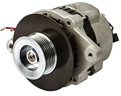 Amazon 55 Amp 12V Marine Alternator With Serpentine Pulley For