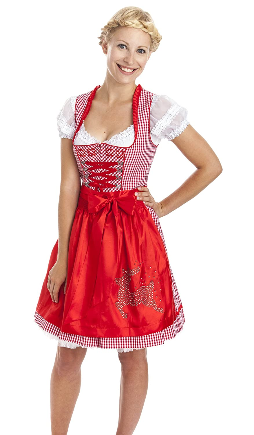kr ger madl dirndl mini klassisch rot g nstig kaufen. Black Bedroom Furniture Sets. Home Design Ideas