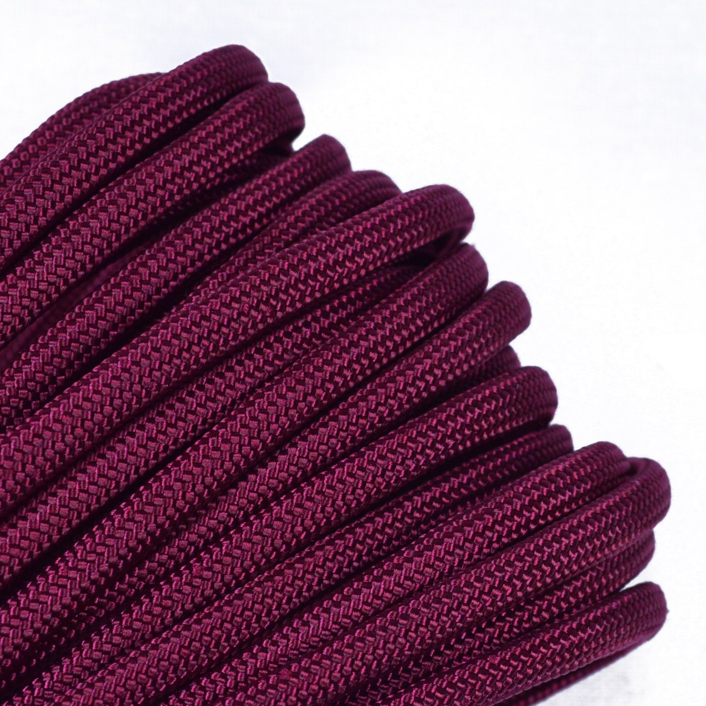 Burgundy Mil-Spec Commercial Grade 550lb Type III Nylon Paracord - 50 Feet