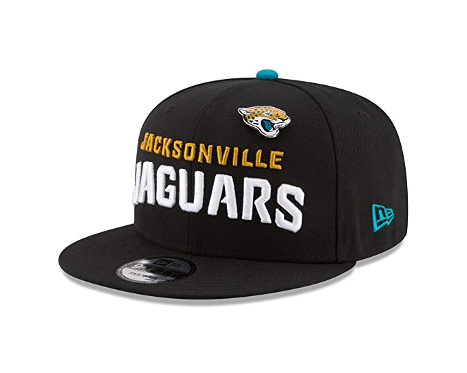 55f7f407cf710 Image Unavailable. Image not available for. Color  New Era Jacksonville  Jaguars PIN Snapback 9Fifty Snapback NFL Adjustable Hat