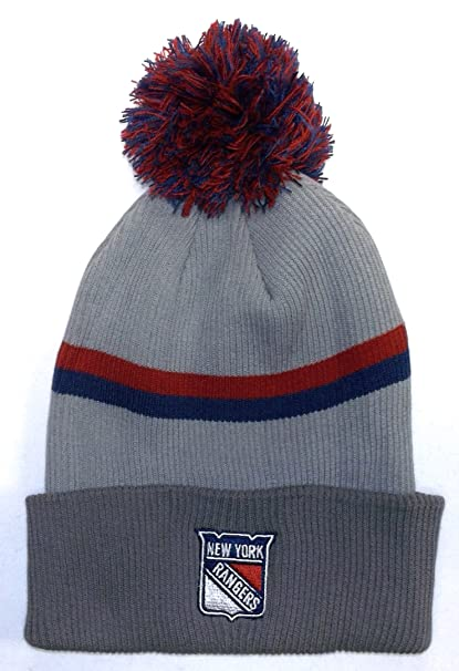 Image Unavailable. Image not available for. Color  NHL New York Rangers  Cuffed Knit Hat With Pom ... 1247c025ae3