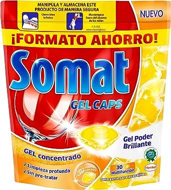 Somat Gel Cápsulas Lavavajillas Limón 30 Dosis: Amazon.es ...