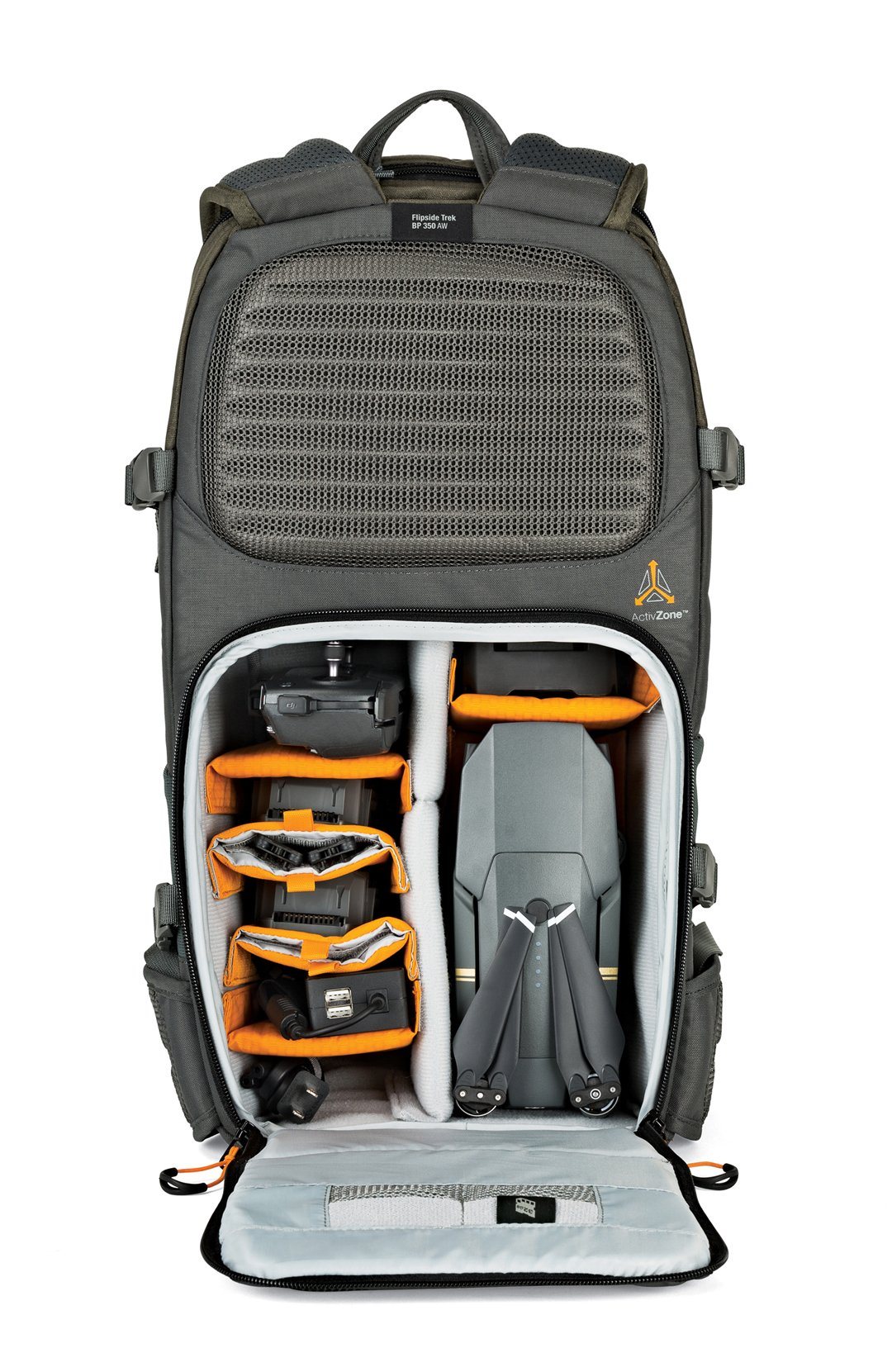 Lowepro Flipside Trek BP 350 AW. Large Outdoor Camera Backpack for DSLR and DJI Mavic Pro Drone w/ Rain Cover and Tablet Pocket by Lowepro (Image #5)