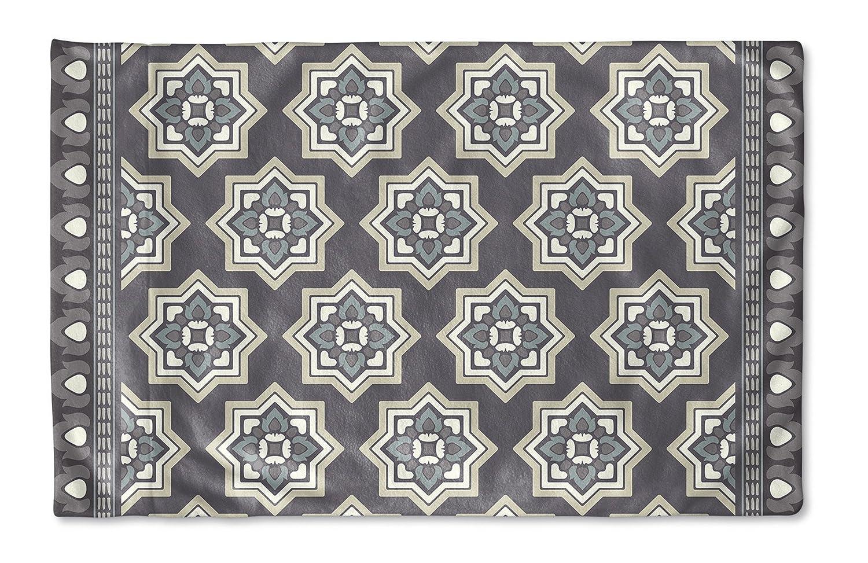 KAVKA Designs Balance Pillow Case, MGTAVC2105PC32 - Size: 30X20X1 - Grey//Blue