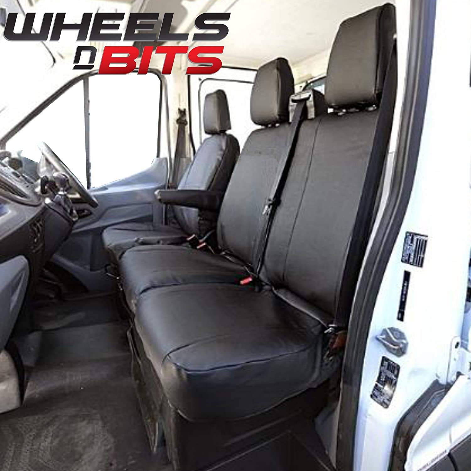Wheels N Bits 100% Fit Tailored Custom fitment Heavy duty Faux PVC Leather Van Seat Cover WaterProof Proofed Oil Dirt Grease Resistant Perfect for Builder Plasters Farming