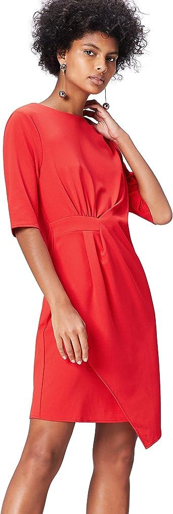 TALLA 44. Marca Amazon - find. Drape Hem_AN5414 - Vestidos Mujer