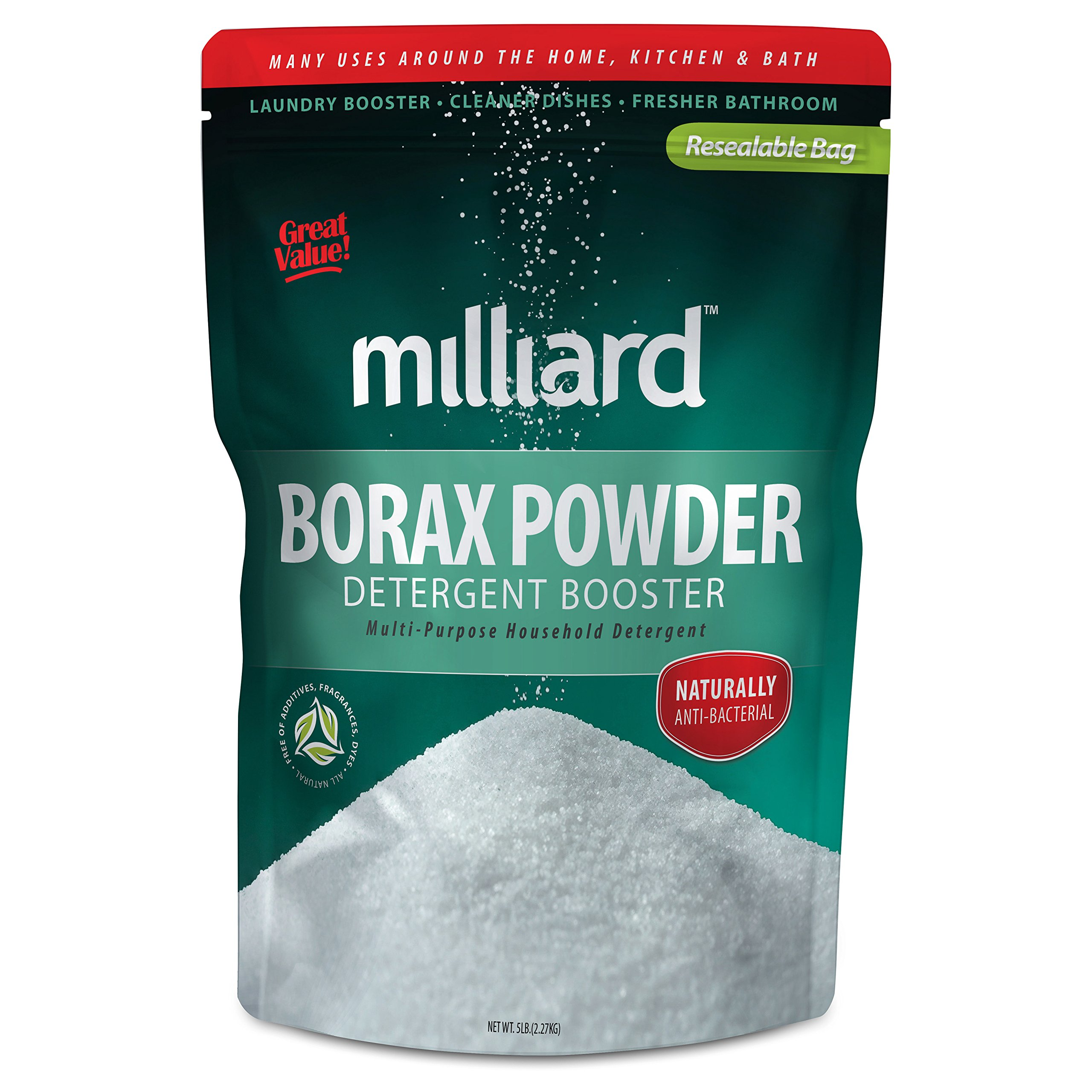 MILLIARD Borax Powder - Pure Multi-Purpose Cleaner 5 lb. Bag