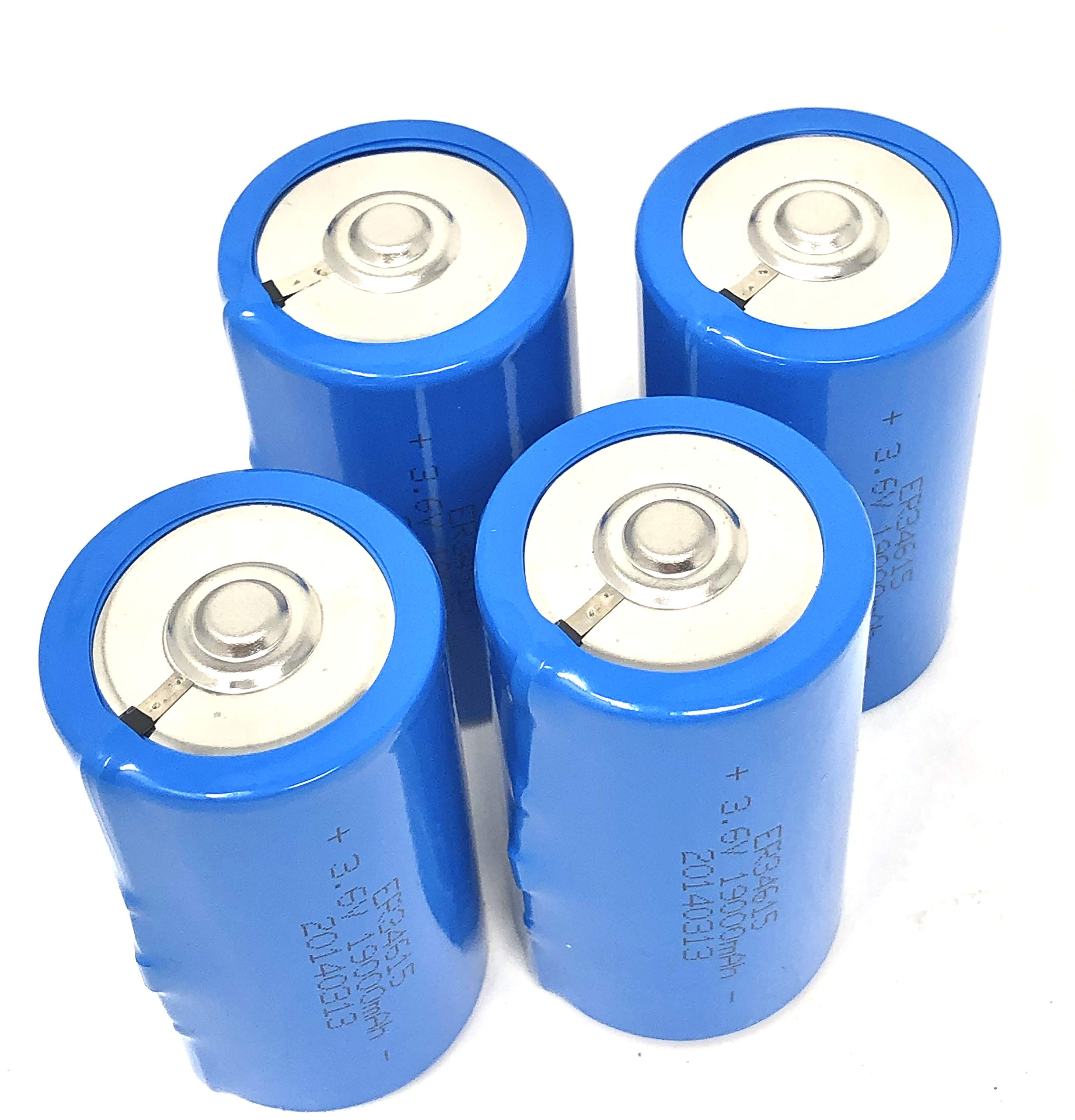 3.6V D Cell 19000mAh ER34615 Li-Socl2 Lithium Battery, 19 Ah D Size (4 pcs) by LNX