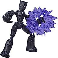 Marvel Avengers Bend and Flex-actiefiguur, flexibele Black Panther-figuur van 15 cm, met blastaccessoire, voor kinderen…