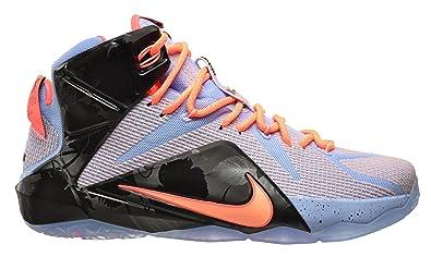 Nike Lebron 12 Men Basketball Shoes Aluminum Hot Lava Black Sunset Glow