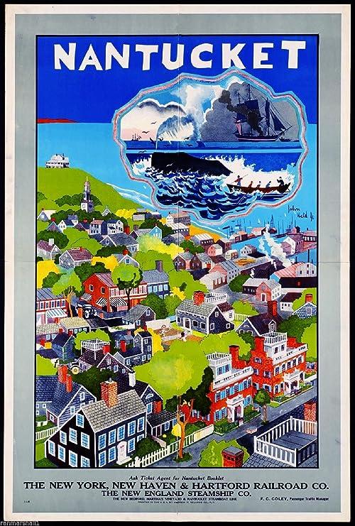 New Haven Railroad winter ski train travel poster repro 12x18