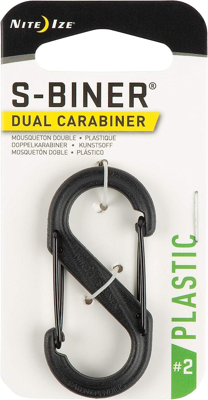 Size #2 S-Biner Plastic Black with Black Gates