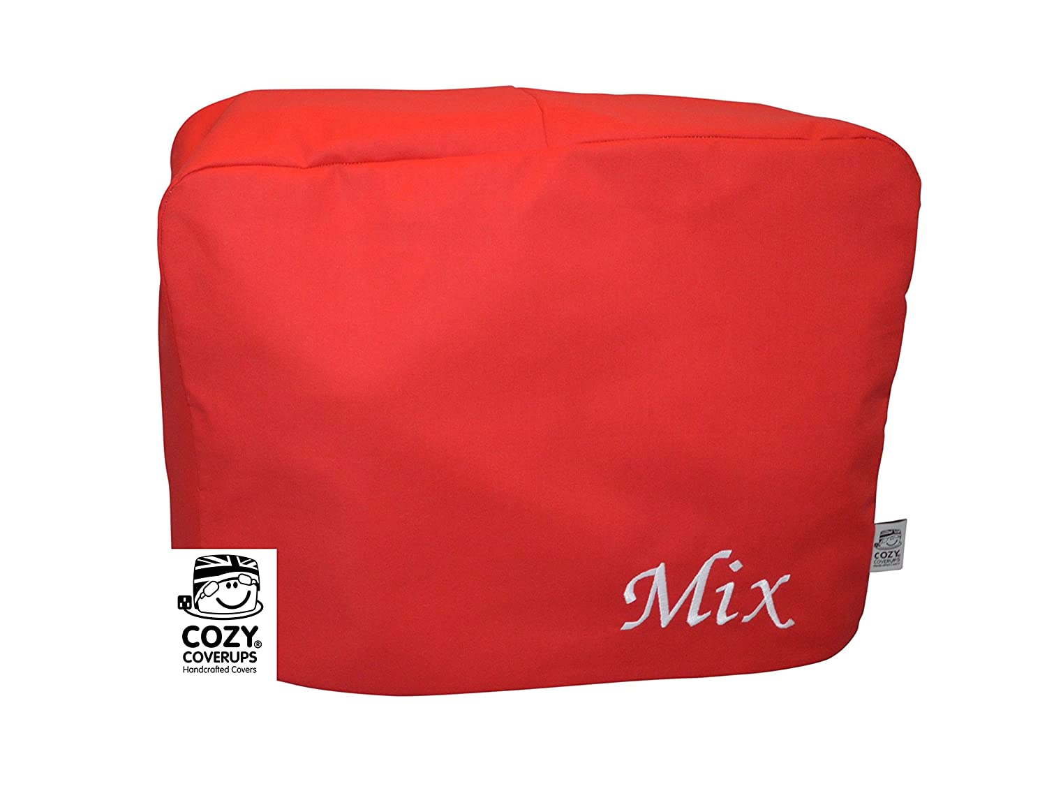 Cozycoverup® Dust Cover for Kenwood Food Mixer in Red 'Mix' Embroidered (Chef Sense XL/Chef XL Titanium KVL8300SKVL6000T KVL6100B OWKVL6021T) Coolcozycovers LTD