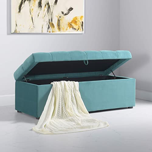 Jennifer Taylor Home Arlo Modern Upholstered Tufted Living Room Storage Bench