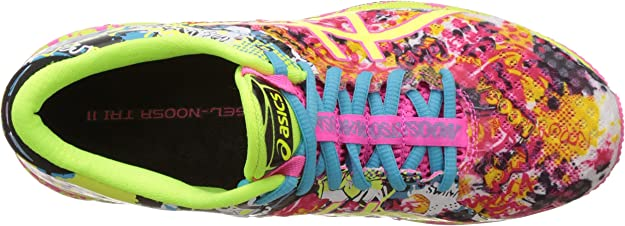 ASICS Womens Gel-Noosa Tri 11 Hot Pink, Flash Yellow and Black Running Shoes -4 UK/India (37 EU)(6 US): Amazon.es: Zapatos y complementos