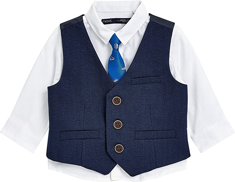 next Niños Conjunto De Chaleco, Camisa Y Corbata con Estampado De ...